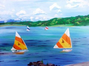 Lake New Galena Sailboats (#245) • Created by Trish • 16x20 • Tier 4