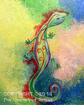 Lola's Lizard (#167) • Created by Trish • 11x14 • Tier 3