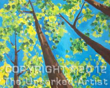 Looking Up at Spring Trees (#108) • Created by Dani • 16x20 • Tier 3