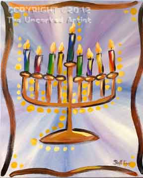 Menorah (#169) • Created by Steffi • 16x20 • Tier 3