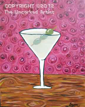 Martini Glass (#170) • Created by Erin • 16x20 • Tier 3