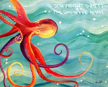 Octopus (#180) • Created by Susan • 16x20 • Tier 3