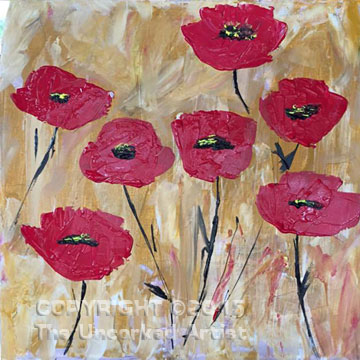 Palette Knife Poppies (#369) • Created by Mandy • 18×18 • Tier 3