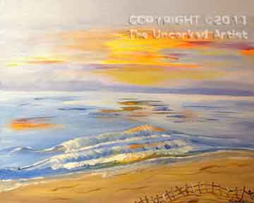 Peaceful Beach (#185) • Created by Mandy  • 16x20 • Tier 3