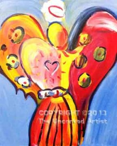 Peter Max Inspired Angel (#188) • Created by Tara  • 16x20 • Tier 3