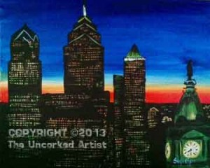 Philly Skyline (#250) • Created by Steffi • 16x20 • Tier 5
