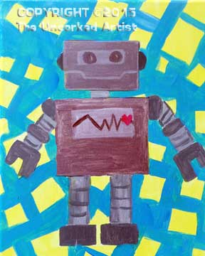 Robot (#211) • Created by Sarah • 11×14 • Tier 1