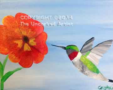 Ruby Throated Hummingbird (#116) • Created by Crystal  • 16x20 • Tier 3