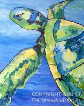 Sea Turtle (#199) • Created by Susan • Template pre-sketched • 16x20 • Tier 3