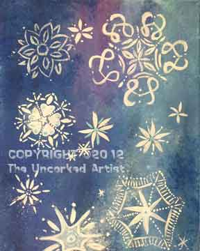 Snowflakes (#066) • Created by Trish • 16x20 canvas • Tier 2