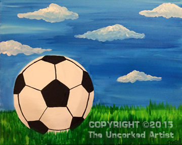 Soccer Ball (#030) • Created by Crystal • 16x20 • Tier 2