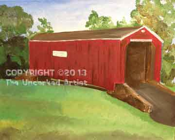 South Perkasie Covered Bridge (#281) • Created by Trish • 16x20 • Tier 5