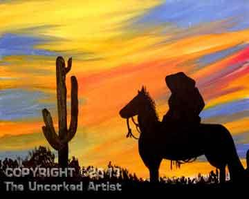 Southwest Cowboy (#203) • Created by Mandy • 16x20 • Tier 3