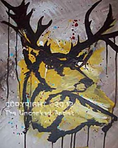 Splatter Buck (#205) • Created by Trish • Template pre-sketched • Can get messy! • 16x20 • Tier 3