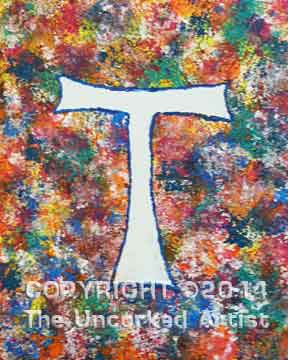 Sponged Monogram (#015) • Created by Tara • 11x14 canvas • Tier 1
