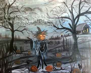 Spooky Scarecrow (#252) • Created by Trish • 16x20 • Tier 4
