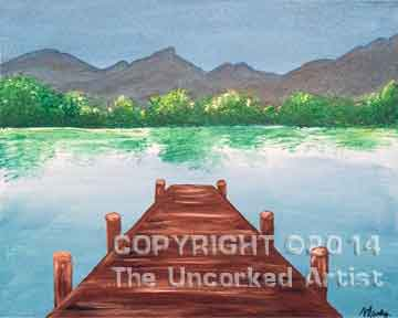 Summer Dock (#209) • Created by Mandy • Template pre-sketched • 16x20 • Tier 3