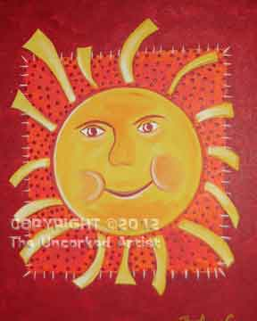 Summer Sun (#016) • 16x20 canvas • Tier 1