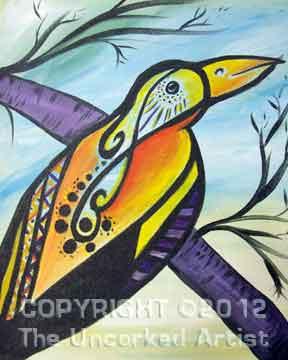 Tattoo Bird (#213) • Created by Trish • 16x20 • Tier 3
