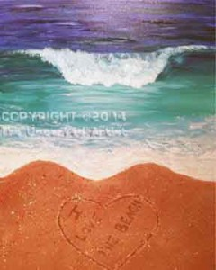 Text On The Beach (#215) • Created by Becky • 16x20 • Tier 3