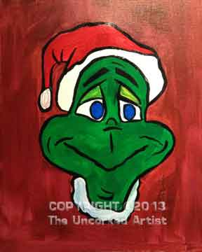 The Grinch (#074) • Created by Tara • 16x20 canvas • Template pre-sketched • Tier 2