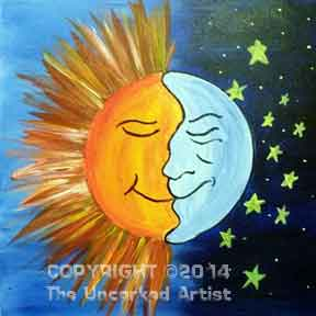 The Sun and The Moon (#218) • Created by Mandy • 16x20 • Tier 3