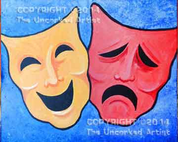 Theater Masks (#216) • Created by Kerrin • 16x20 • Tier 3