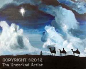 Three Wise Men Star Of Bethlehem (#254) • Created by Erin • 16x20 • Tier 4