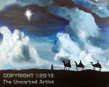 Three Wise Men Star Of Bethlehem (#254) • Created by Erin • 16x20 • Tier 4