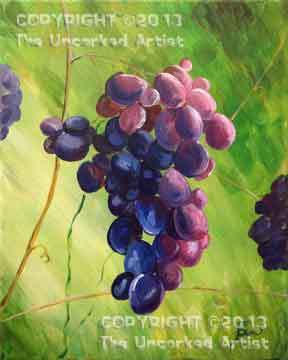 Tuscany Grapes (#256) • Created by Susan • 11x14 • Tier 4