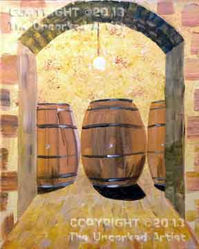 Tuscany Wine Barrels (#258) • Created by Susan • 11x14 • Tier 4