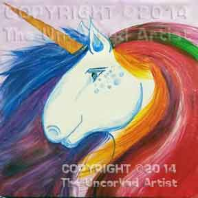 Unicorn (#222) • Created by Mandy • Template pre-sketched • 12x12 canvas • Tier 3