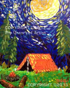 Van-Gogh-ing Camping (#223) • Created by Steffi • 16x20 • Tier 3