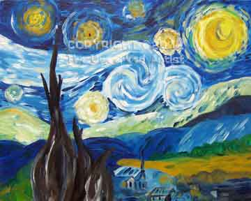 Van Gogh Starry Night (#265) • Created by Trish • 16x20 • Tier 4