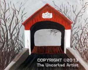 Van Sant Covered Bridge (#284) • Created by Erin • 16x20 • Tier 5