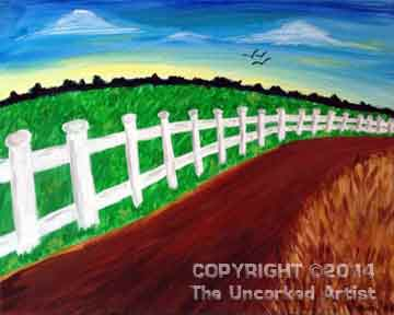 White Picket Fence (#227) • Created by Amanda Lee • 16x20 • Tier 3