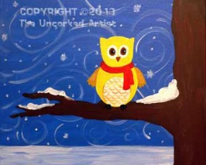Whoooo's Ready For Winter (#228) • Created by Kerrin • 16x20 • Tier 3