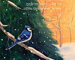 Winter Bluejay (#260) • Created by Steffi • 16x20 • Tier 4