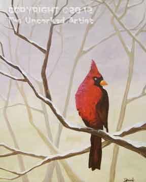 Winter Cardinal (#262) • Created by Dani • 16x20 • Tier 4