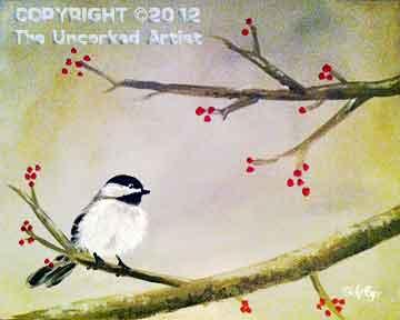 Winter Chickadee (#263) • Created by Steffi • 16x20 • Tier 4