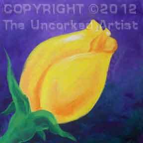 Yellow Rosebud (#126) • Created by Steffi • 12x12 • Tier 3