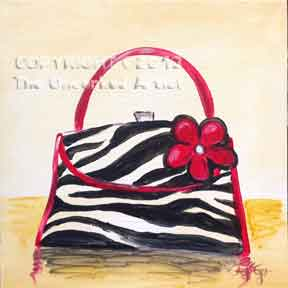Zebra Striped Purse (#195) • Created by Steffi • 12x12 • Tier 3