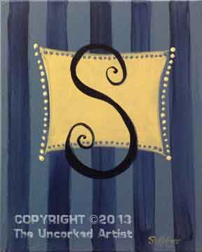 Striped Monogram (#045) • Created by Steffi • 11x14 • Tier 2