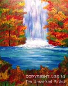 Waterfalls (#093) • Designed by Rebecca • Paint all the different seasons! •  16x20 • Tier 3
