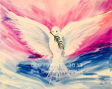 Peaceful Dove (#090) • Created by Susan • 16x20 • Tier 3