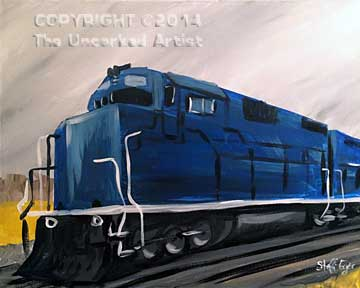 Train (#235) • Created by Steffi • 16x20 • Tier 4