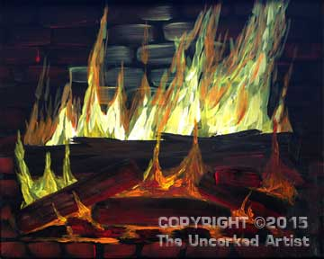 Warmed By The Fire (#102) • Created by Rebecca • 16x20 • Tier 3