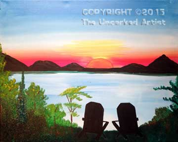 Adirondack Sunrise (#080) • Created by Rebecca • 16x20 • Tier 3