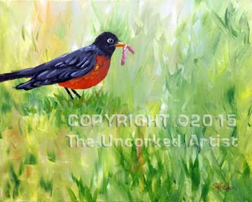 Robin (#082)• Created by Steffi • 16x20 canvas • Tier 4