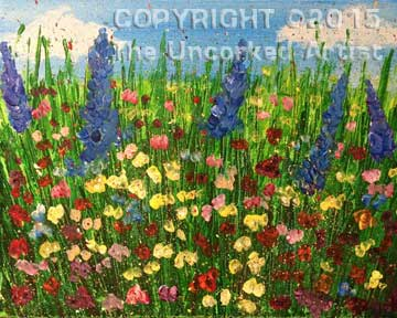 Splatter Field Of Flowers (#301) • Created by Crystal • 11×14 • Tier 3